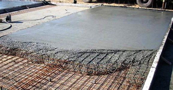 Укладка с заливкой бетонного основания